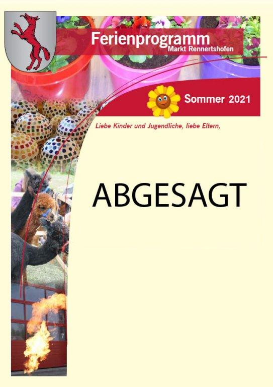 Ferienprogramm 2021 - Deckblatt